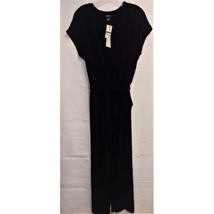 NWT Black Crossover Cap Sleeve Dress